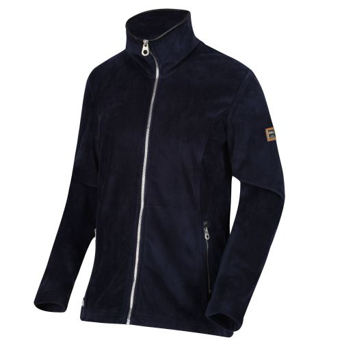 Women's Halona Velour Full Zip Fleece Navy